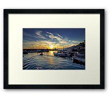 Camogli - Sunset - Italy  Framed Print