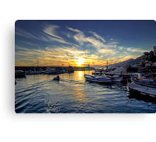 Camogli - Sunset - Italy  Canvas Print