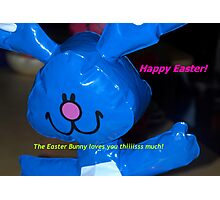 Big hearted Easter Bunny Photographic Print