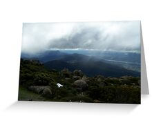 Lovely view from Mt Wellington, Hobart, Tasmania , Australia Greeting Card