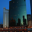 Evening at 333 Wacker Building by Adam Bykowski