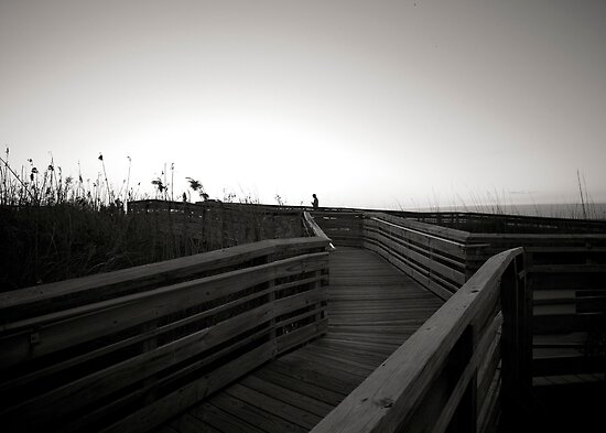 Boardwalk on Myrtle Beach, SC by Jesse J. McClear
