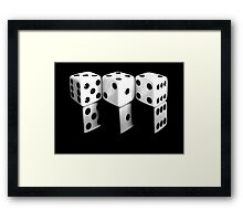 Reflecting Dice Framed Print