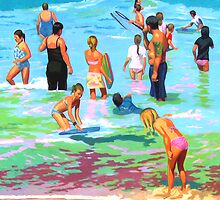 Beach Bathers by Guntis Jansons