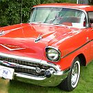 57 Chevy..... a car to drool over... by Larry Llewellyn
