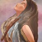 Resting IN God (oil) Christian ART works by RealPainter