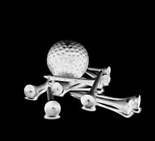 Golf Ball with Tees by ellearden