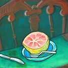 Petite Dejeuner with Grapefruit by sally seabright