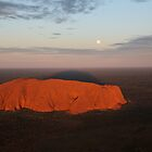 Blue Moon Rising over Uluru1 by Jocelyn Pride