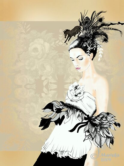 Catwalk / 2009 / Fashion Illustration by Mariska