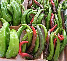 Peppers at the Ann Arbor Farmers Market by Roger Wheaton