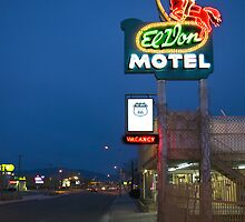 Route 66 and the El Don Motel, Albuquerque by TheBlindHog