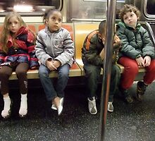 #1 subway train, NYC by RonnieGinnever
