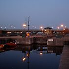 Tees Barrage at night by dougie1