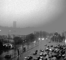 My City on a Winter, rainy day by Daniela Cifarelli
