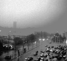 My City on a Winter, rainy day by Daniela Cifarelli