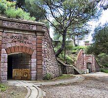 Tunnels, Bateria de Cenizas, Costa Calida, Spain  by Squealia