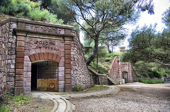 Tunnels, Bateria de Cenizas, Costa Calida, Spain  by Squealia