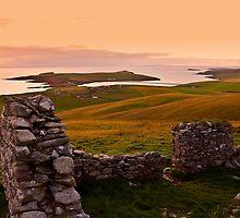 St Ninian's Isle Sunset, Shetland Islands, Scotland by Del419
