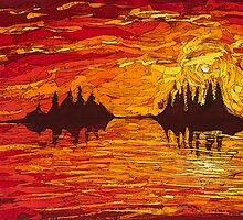 raging sunset by Tiana Robinson