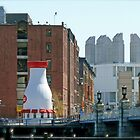 The Hood Milk Bottle, Boston Harbor, April in Boston Series 2009 by Jack McCabe