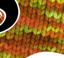 knitty sheep Sticker