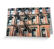 New York Tenement  Greeting Card