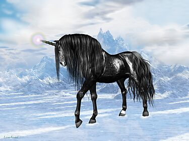 Black Unicorn by LoneAngel