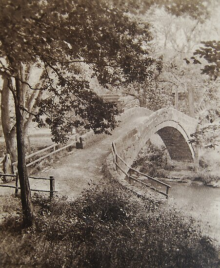 Beggars Bridge Glaisdale, North Yorkshire Moors, circa 1880. by Phil Mitchell
