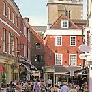 Summer evening, The Square, Winchester, southern England by Philip Mitchell
