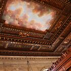 New York Library Cloud Fresco Looking Up by Jane McDougall