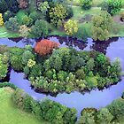 aerial view of derbyshire by alixlune
