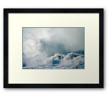 One Heck of a Wave! Framed Print