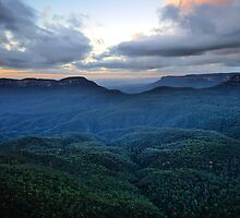 Morning Glory, - Blue Mountains World Heritage Area - The HDR Experience by Philip Johnson