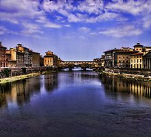 The Arno river in Florence by Andrea Rapisarda