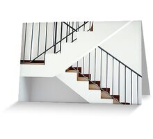 Flight of stairs in a new house Greeting Card