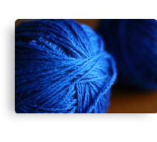 Blue wool Canvas Print