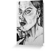 Empty Stare Greeting Card