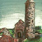 Irish Round Tower by Alan Hogan