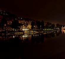 Turin - Lungo Po by night by becks78