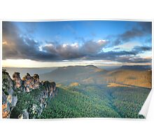 Sisters With A View - Blue Mountains World Heritage Poster