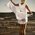 The girl with the white dress  by Vegard Giskehaug