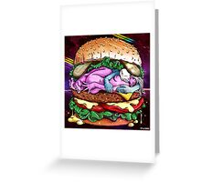 Cosmic Sex Burger With Cheese Greeting Card