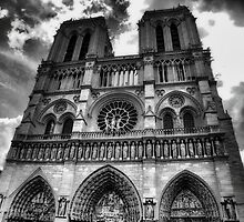 Notre Dame in black and white by Andrea Rapisarda