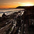 Strata Sea Sunsets by ffotoCymru