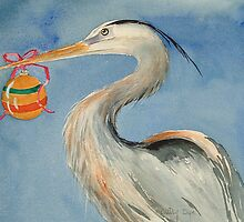 Heron with Ball, price $5.00 to $155.00 by Autry  Dye