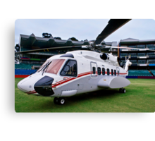 Sikorsky S-92 … Parked @ The Wanderers Cricket Stadium Canvas Print