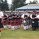 Scottish Highland Pipe bands by Marjorie Wallace