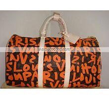 Louis Vuitton Monogram Graffiti Stephen Sprouse Keepall 50 Orange Travel Bag LV M93699 by Maureen Mo