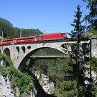 Glacier Express, Switzerland by Cathy Cormack